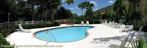 A pleasant place to spend a weekend afternoon. Take in some Sarasota sun by the pool at Palmer Square East.
